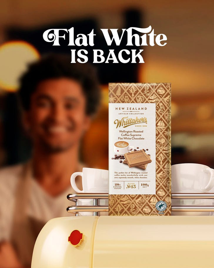 Whittaker's Flat White Chocolate is out now.