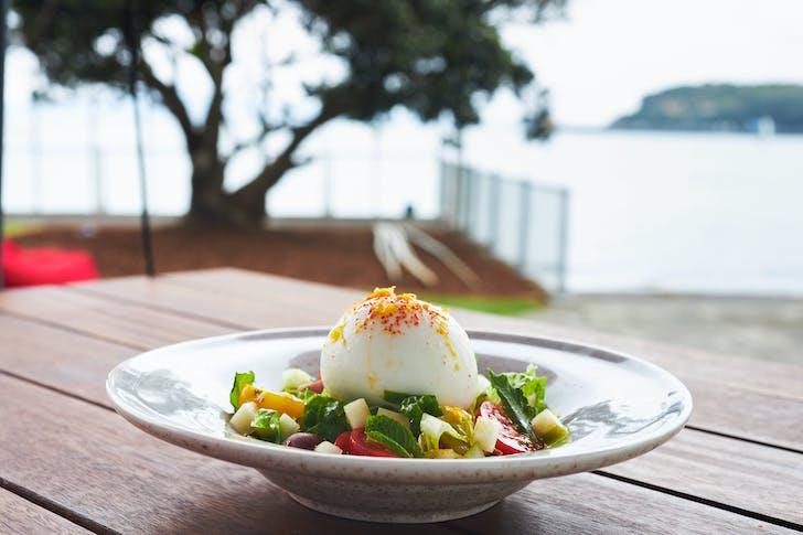 Enjoy a fresh lunch seaside at Akarana Eatery
