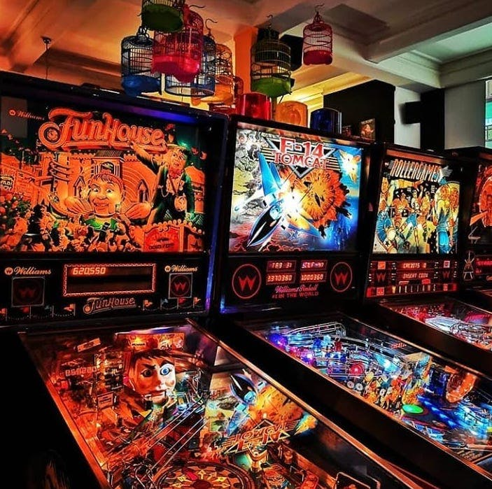Play your favourite old-school arcade games at Save Ferris