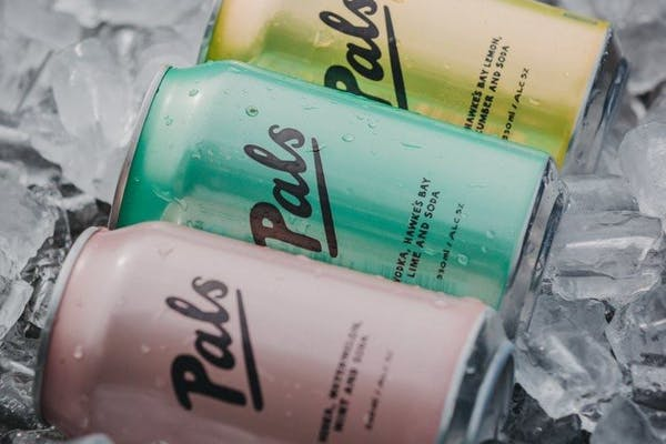 Pals RTD cans on ice
