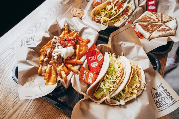 taco bell new zealand crunchwrap supreme, nachos,  tacos, and fries