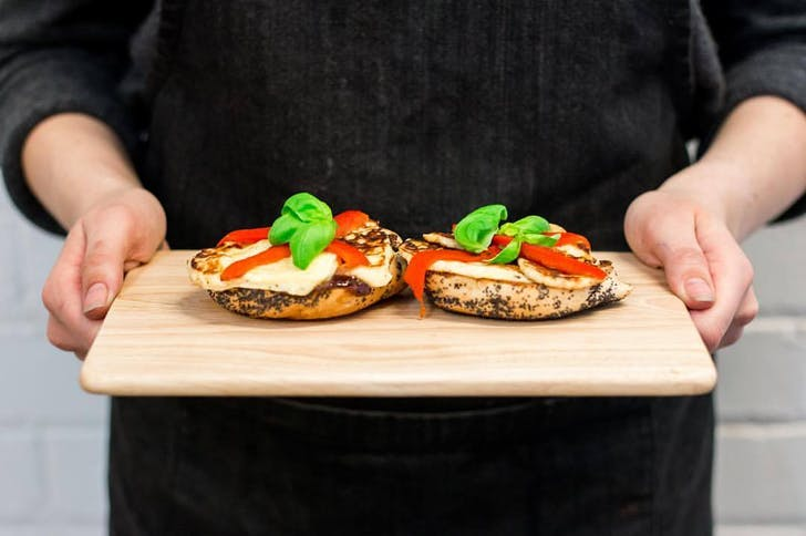The Grilled Bagel from The Tannery