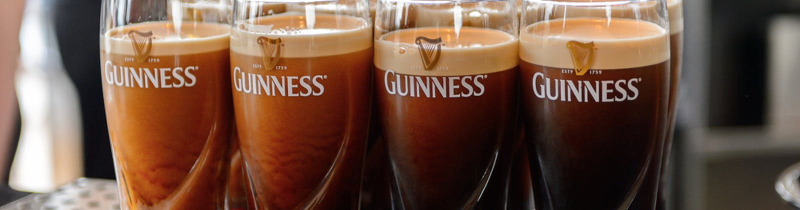 eight glasses of guinness beer