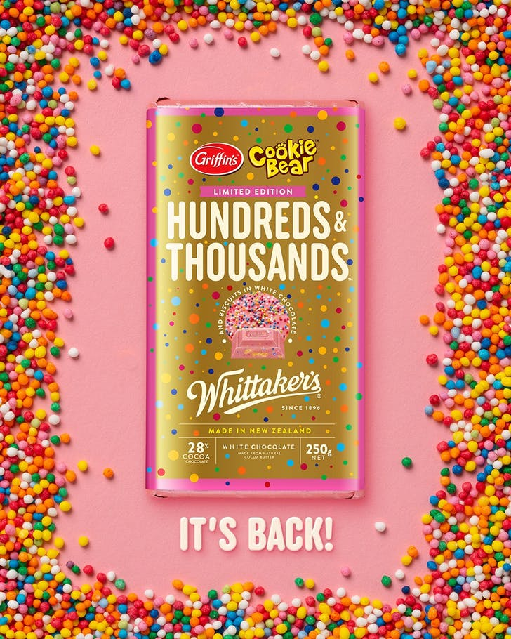 Hundreds & Thousands blocks are back! (Photo Source: Whittaker's Chocolate Lovers).