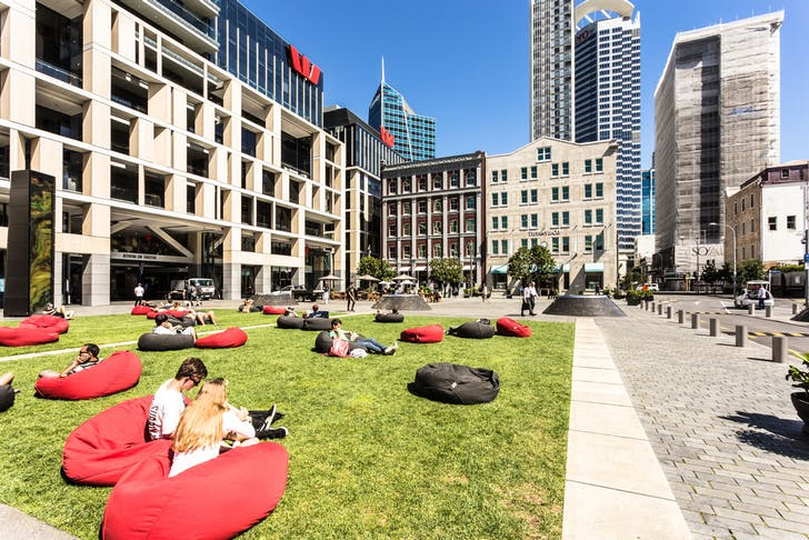 Britomart's beanbags will be back out in the sunshine