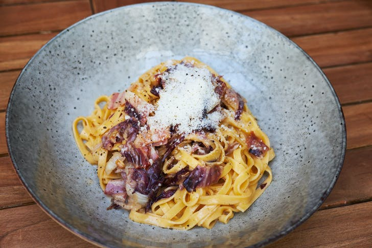 Pasta & Cuore's handmade fettuccine