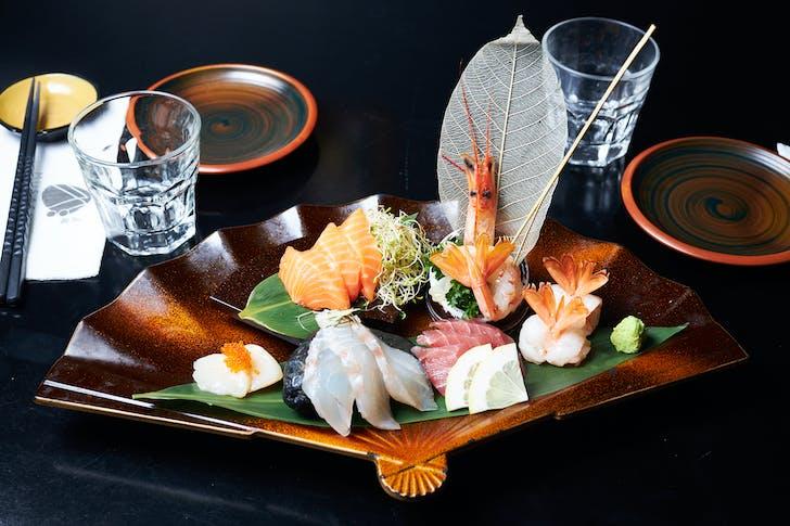 Sashimi spread from Musashi