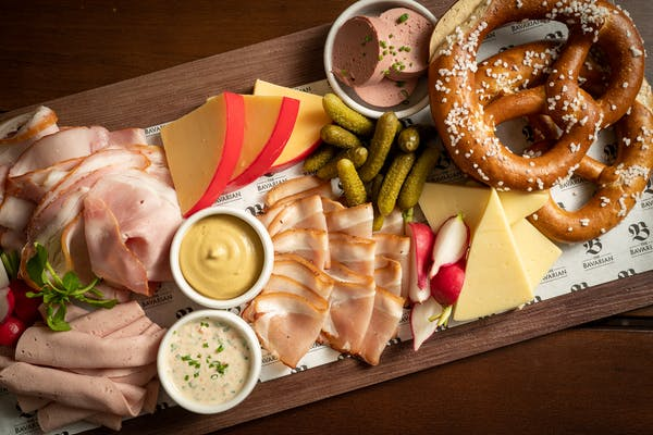 the bavarians cheese and meat platter