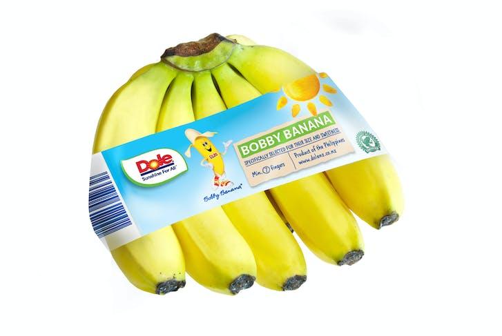 Dole's New Bobby Banana Tape Packaging.