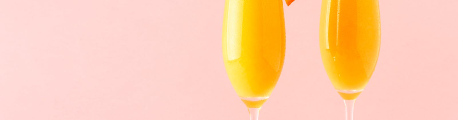 mimosas on a pink background