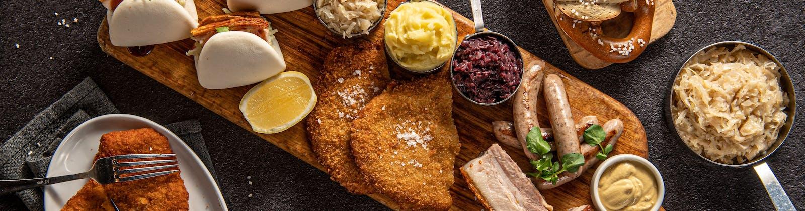 the bavarian's ultimate pork platter