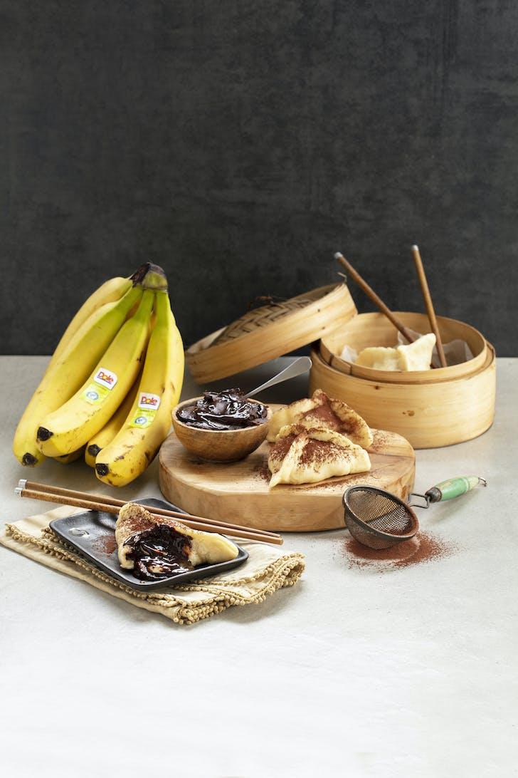 Dole's choc banana dumplings