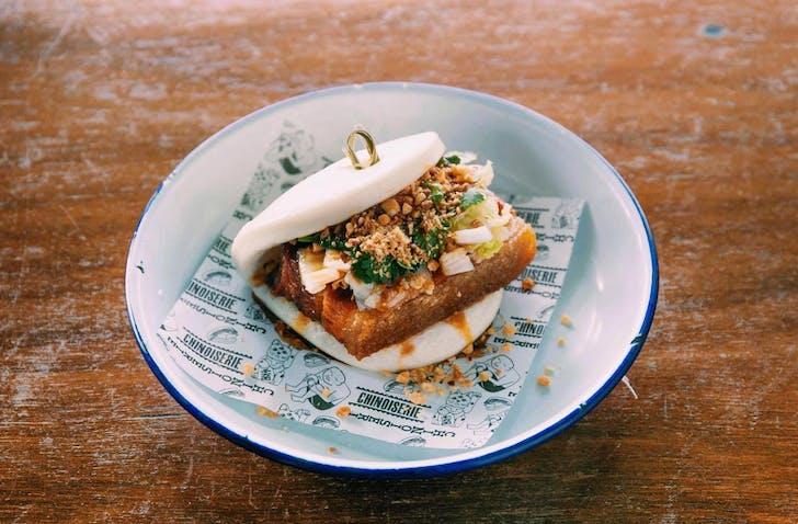Chinoiserie's pork belly bao bun.