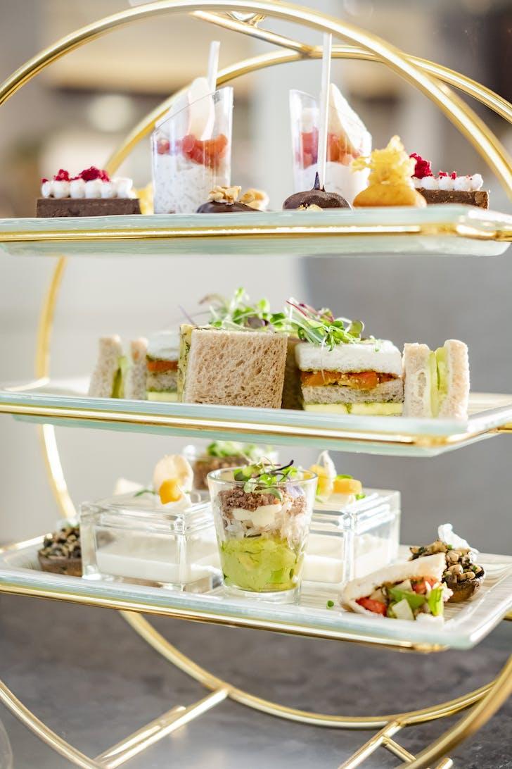 An array of vegan treats at High Tea by Cordis