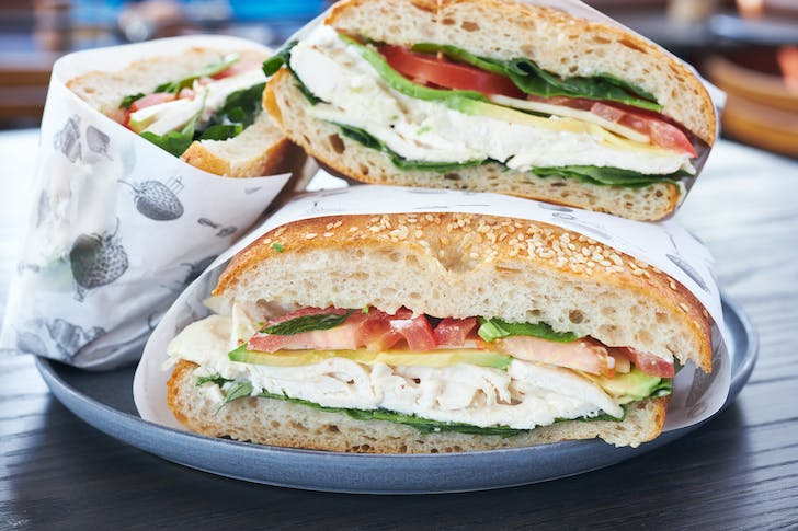 Patch Cafe's loaded ciabatta sandwiches