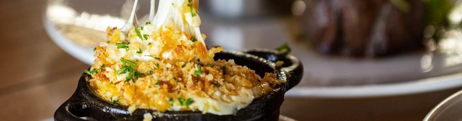 oyster and chop mac and cheese