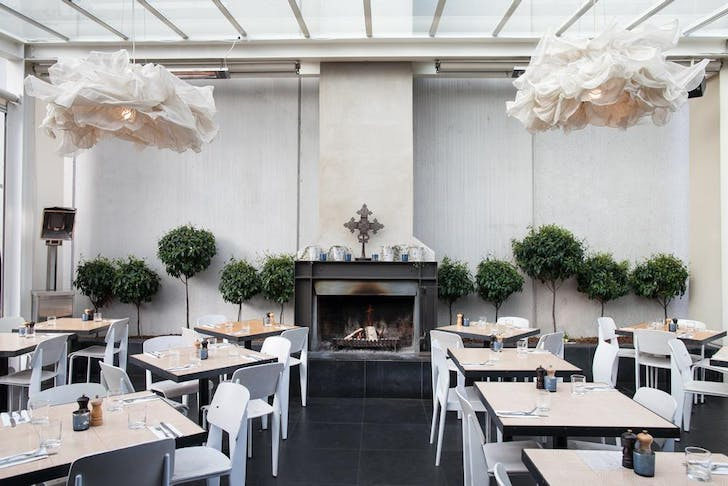 Meadow's light and bright outdoor courtyard