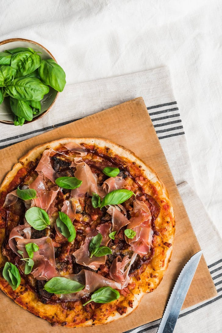 Prosciutto pizza from Goode Brothers