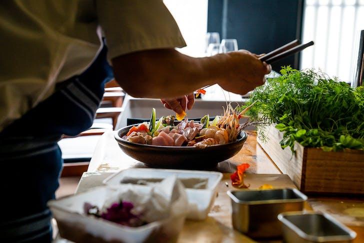 Cocoro's intricate Sashimi Platter