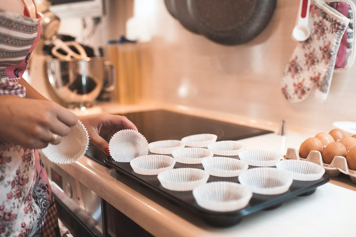 Line your muffin tray before starting the mixture