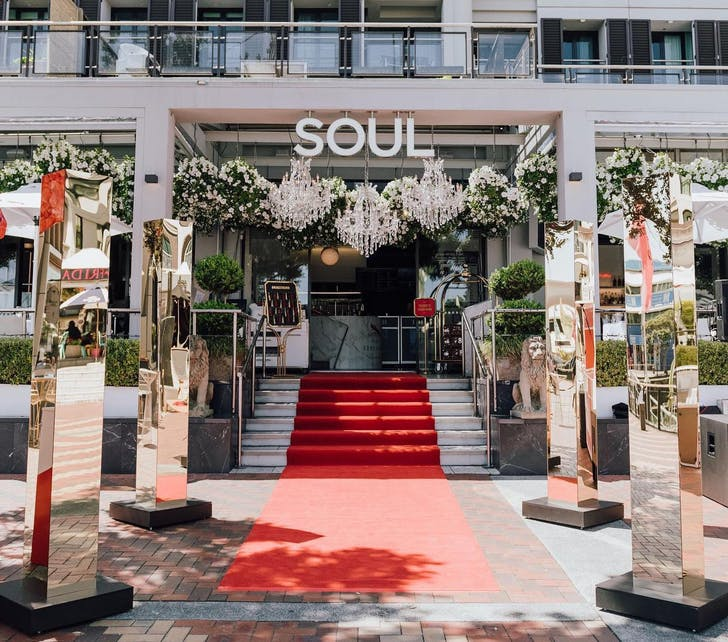 The famous front garden at Soul Bar & Bistro