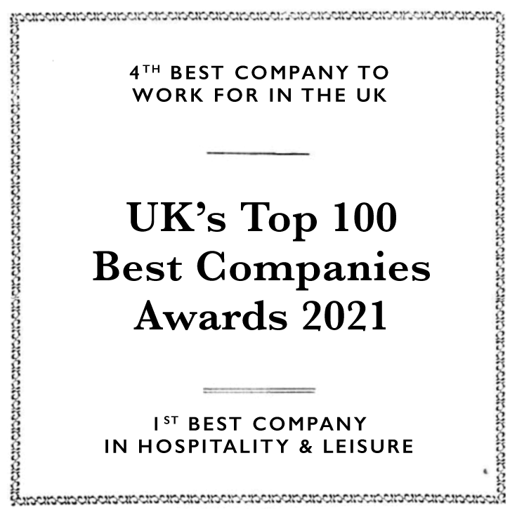 4th Best Company To Work For in The UK: Top 100 Companies 2021