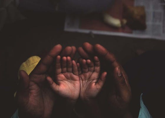 Caring hands at Ramadan
