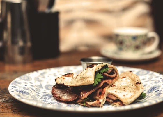 Ginger Pig bacon naan