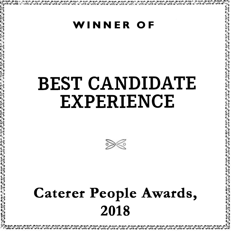 Best Candidate Experience 2018 award - Caterer People Awards