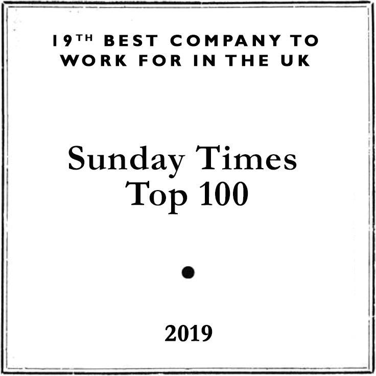 Best Company to Work For, Sunday Times Top 100 2019