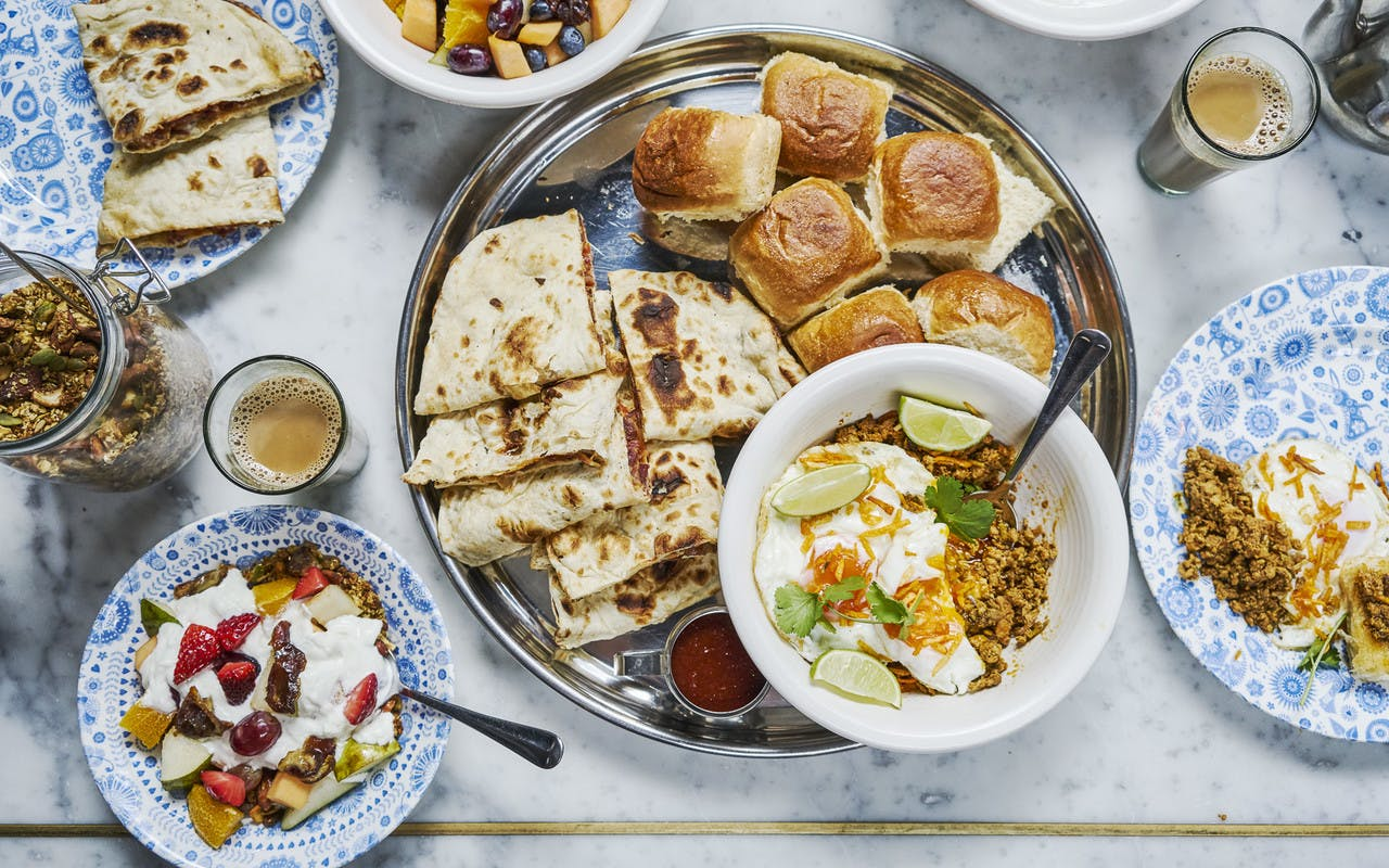 Dishoom breakfast spread
