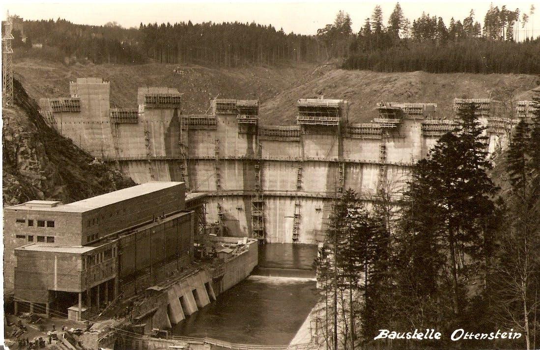 Baustelle Staumauer Ottenstein