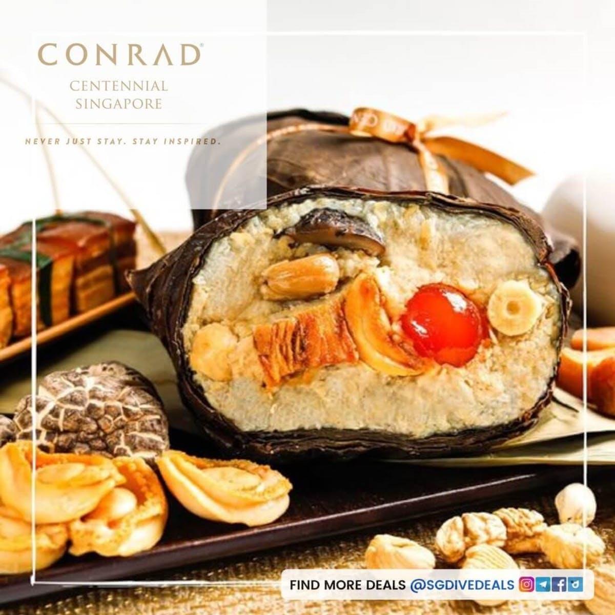 Golden Peony Singapore Black Pepper Chili Crab, Prawn and Bedford Scallops Rice Dumpling 辣 椒 蚧 法 囯 帶 子 粽