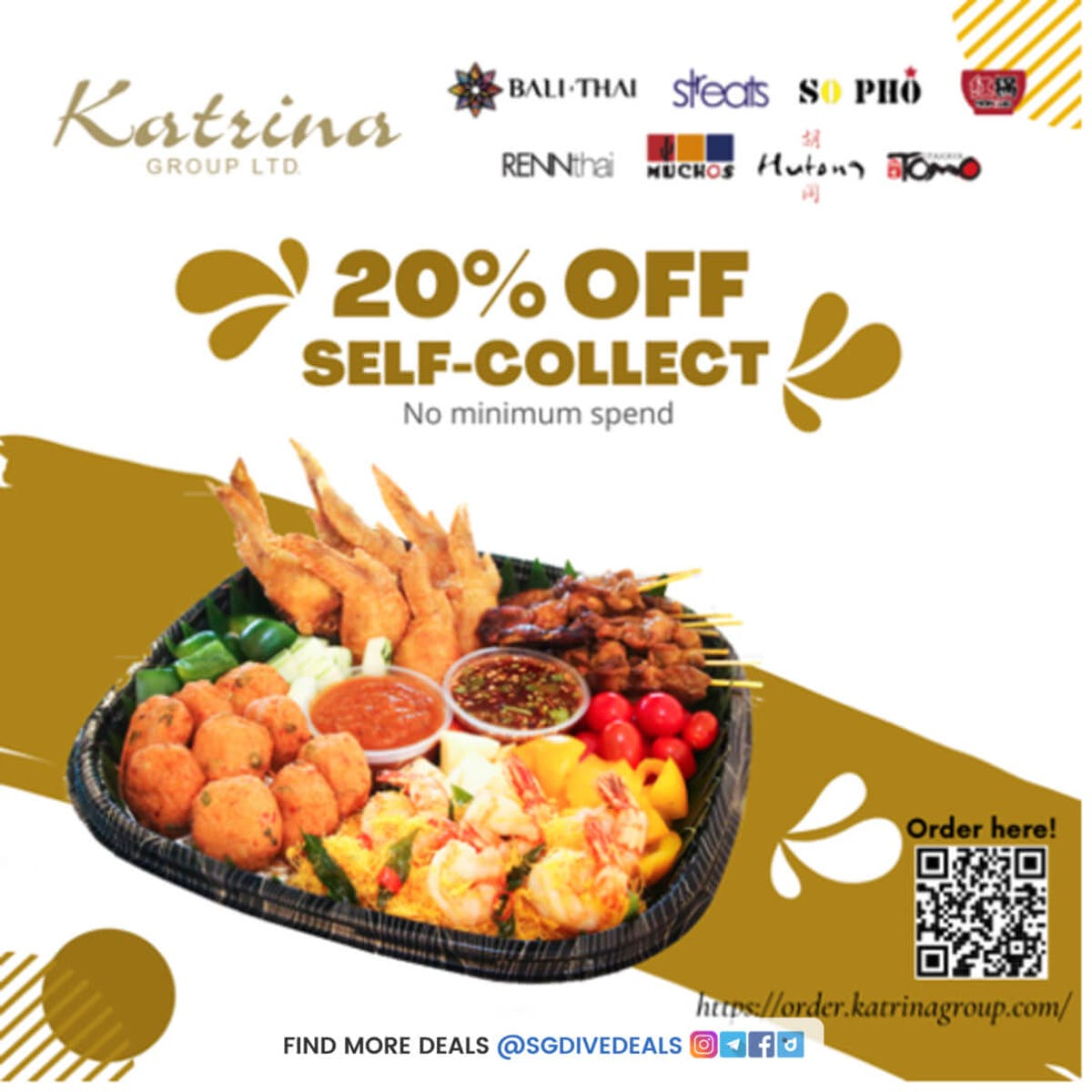 20% off self-collect orders takeaway at So Pho