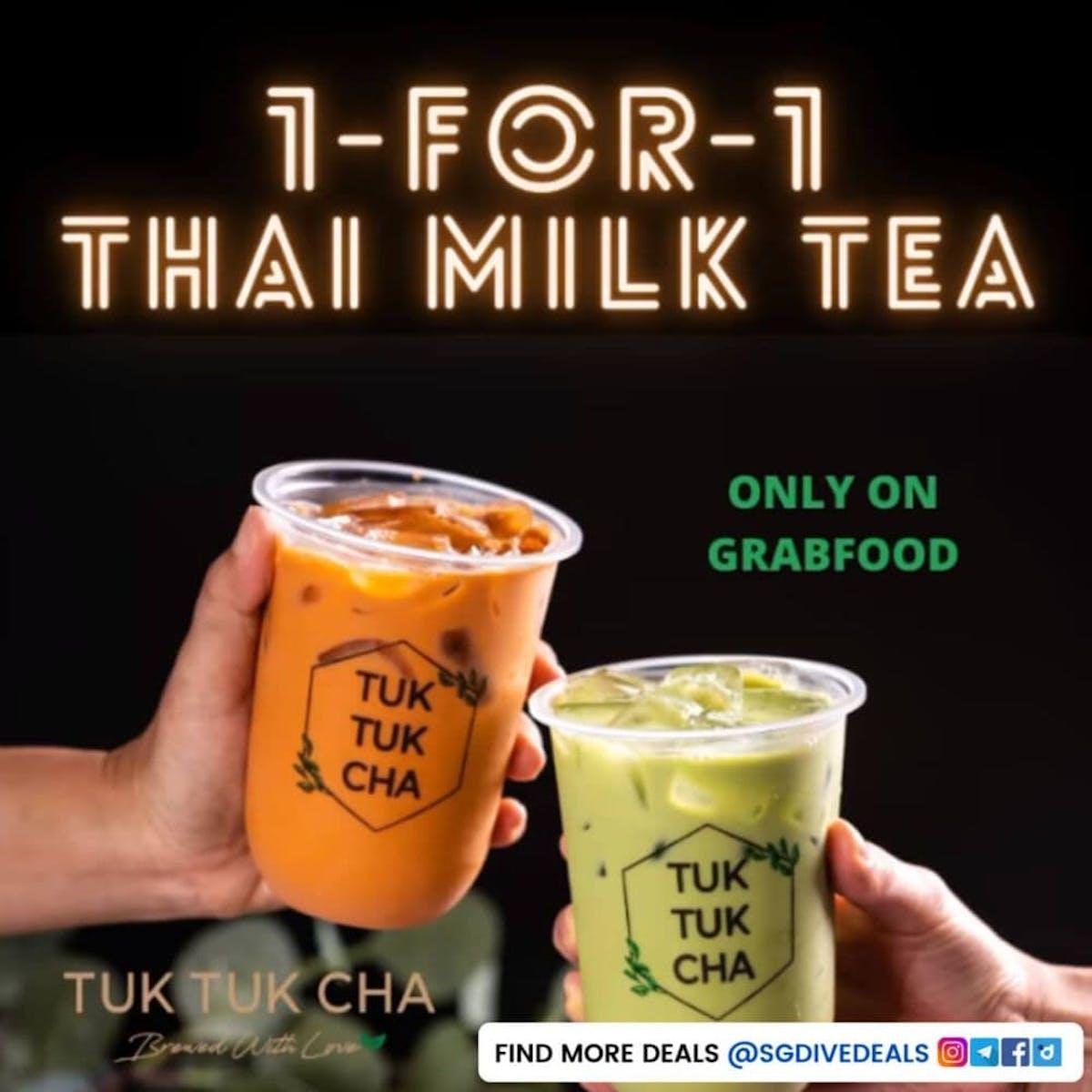 1-for-1 milk tea bubble tea