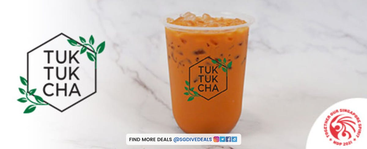 1-for-1 thai milk tea bubble tea