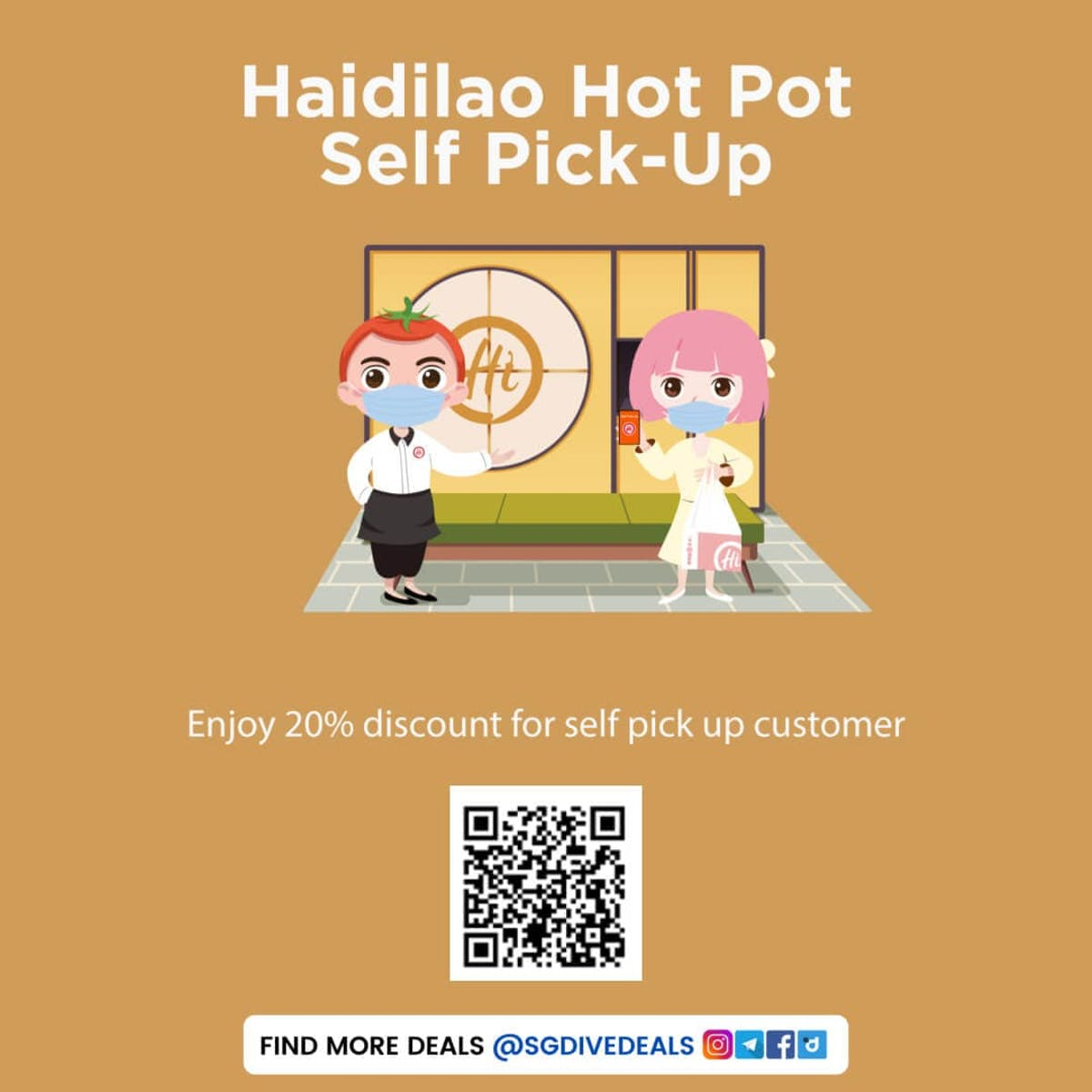 Haidilao 20% Off Self Pick-up and takeaway Promo Deals