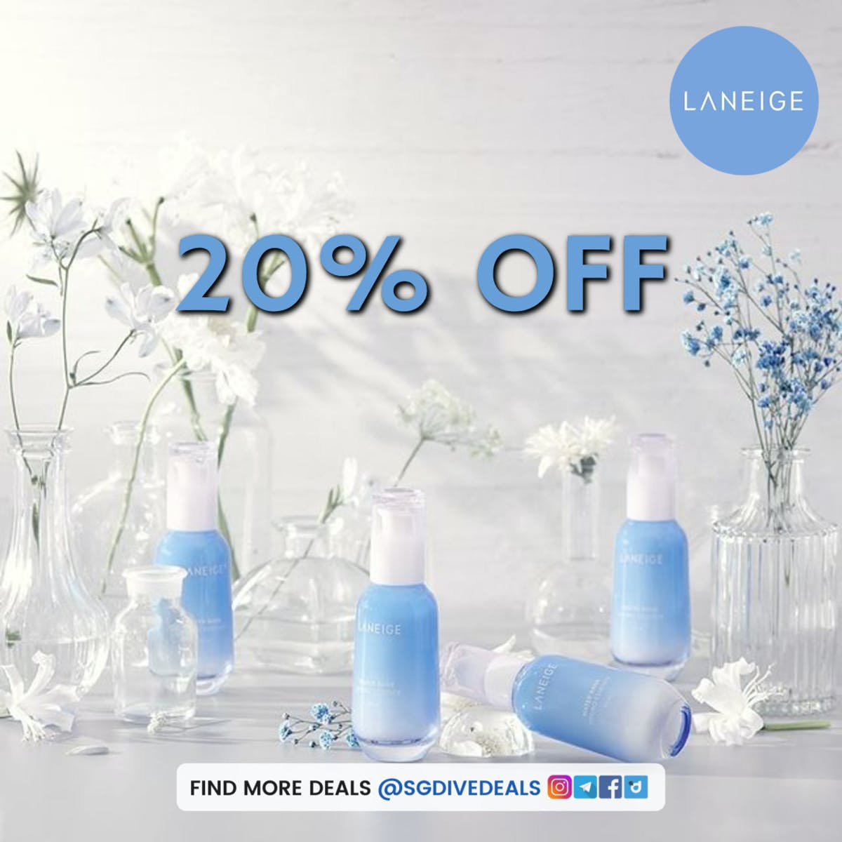 laneige 20% off discounts on korean skincare