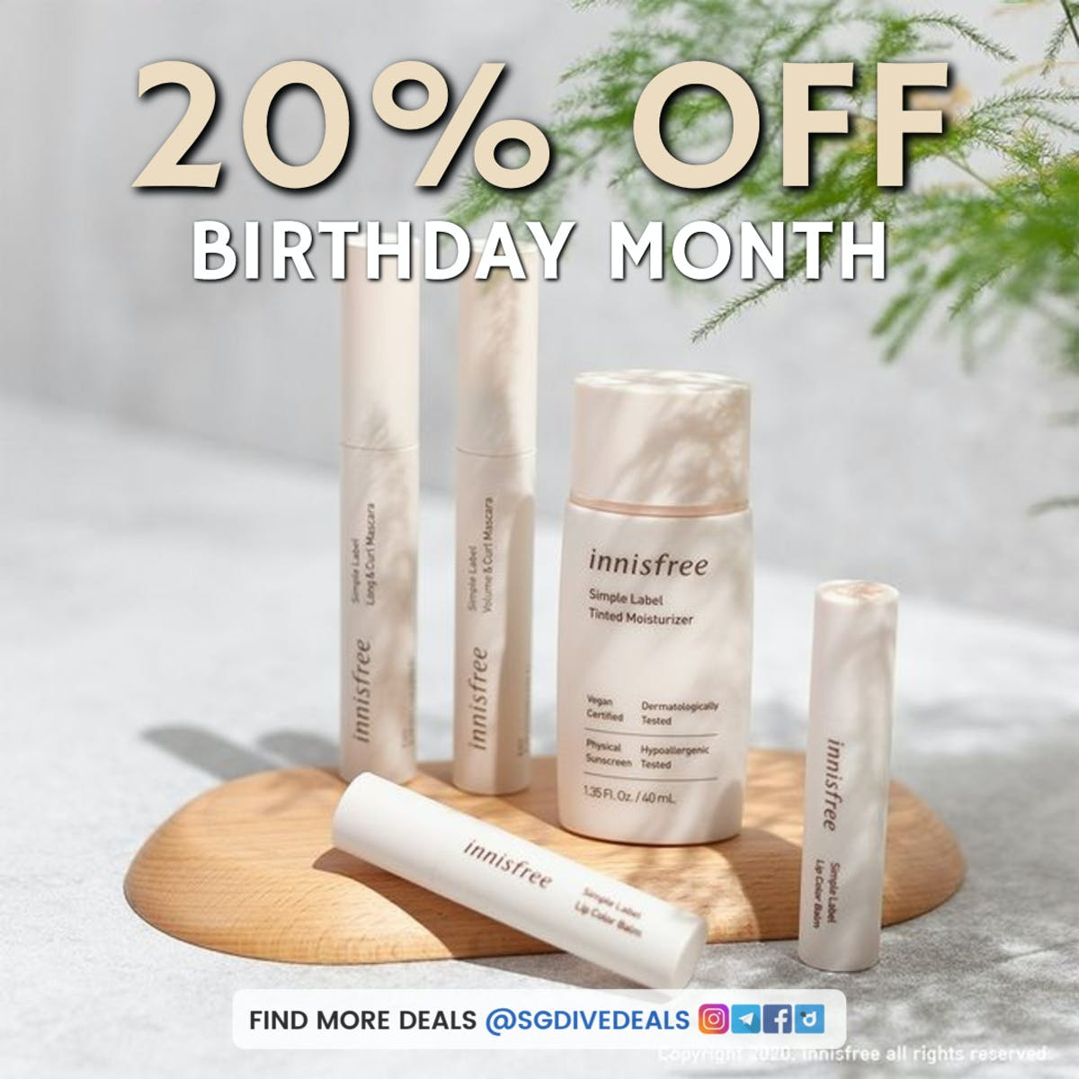 20% off korean skincare at innisfree