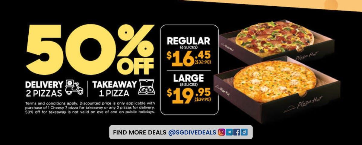 50% off Pizza Hut