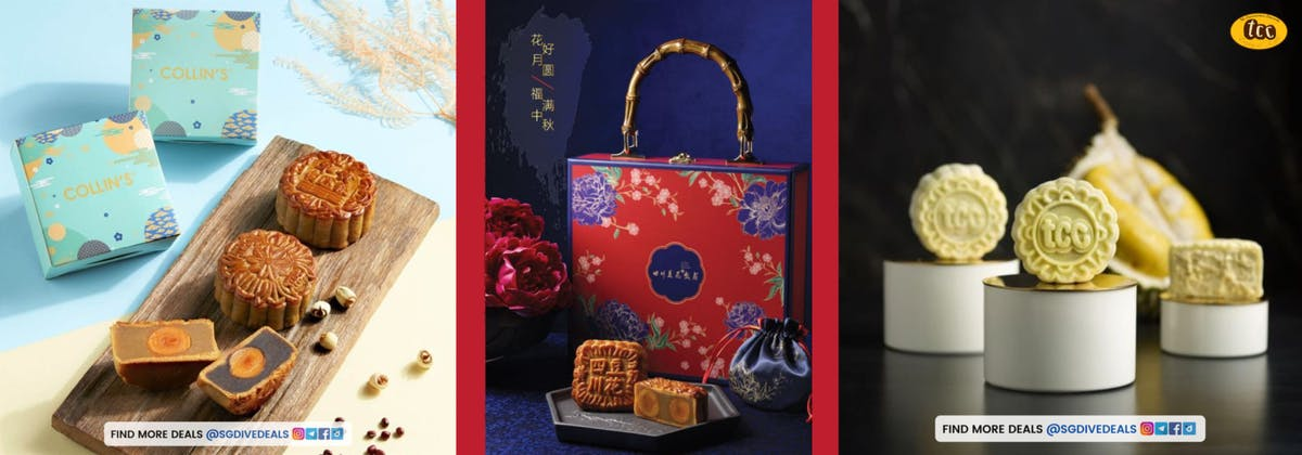 COLLIN'S with $30 dining vouchers, Si Chuan Dou Hua Restaurant with $20 dining voucher and TCC with 50% dining vouchers