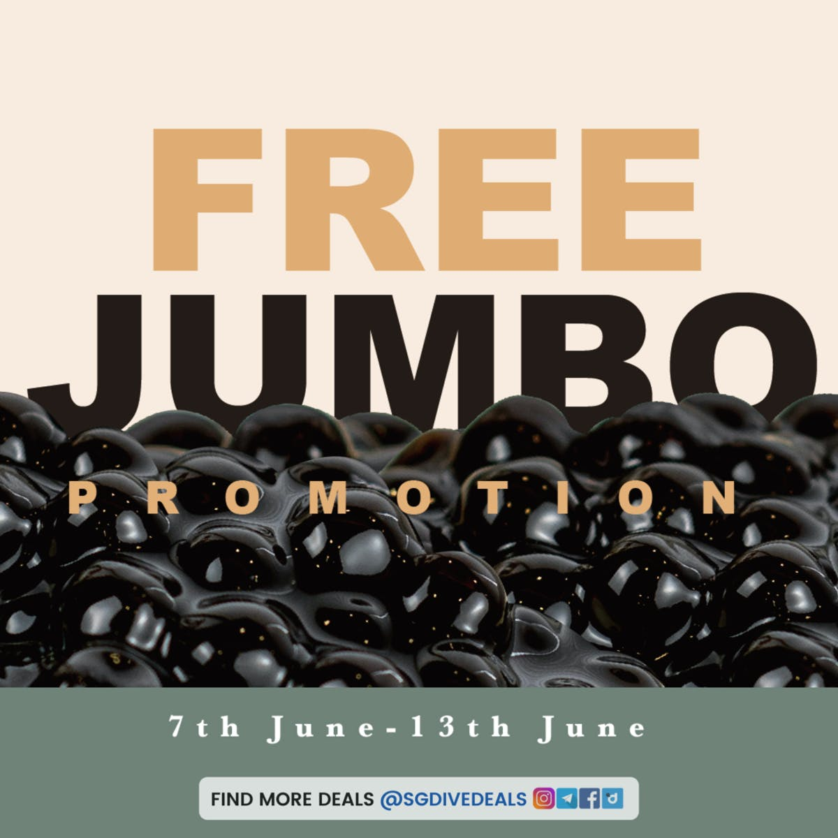 Koi Free Jumbo Toppings Promotio