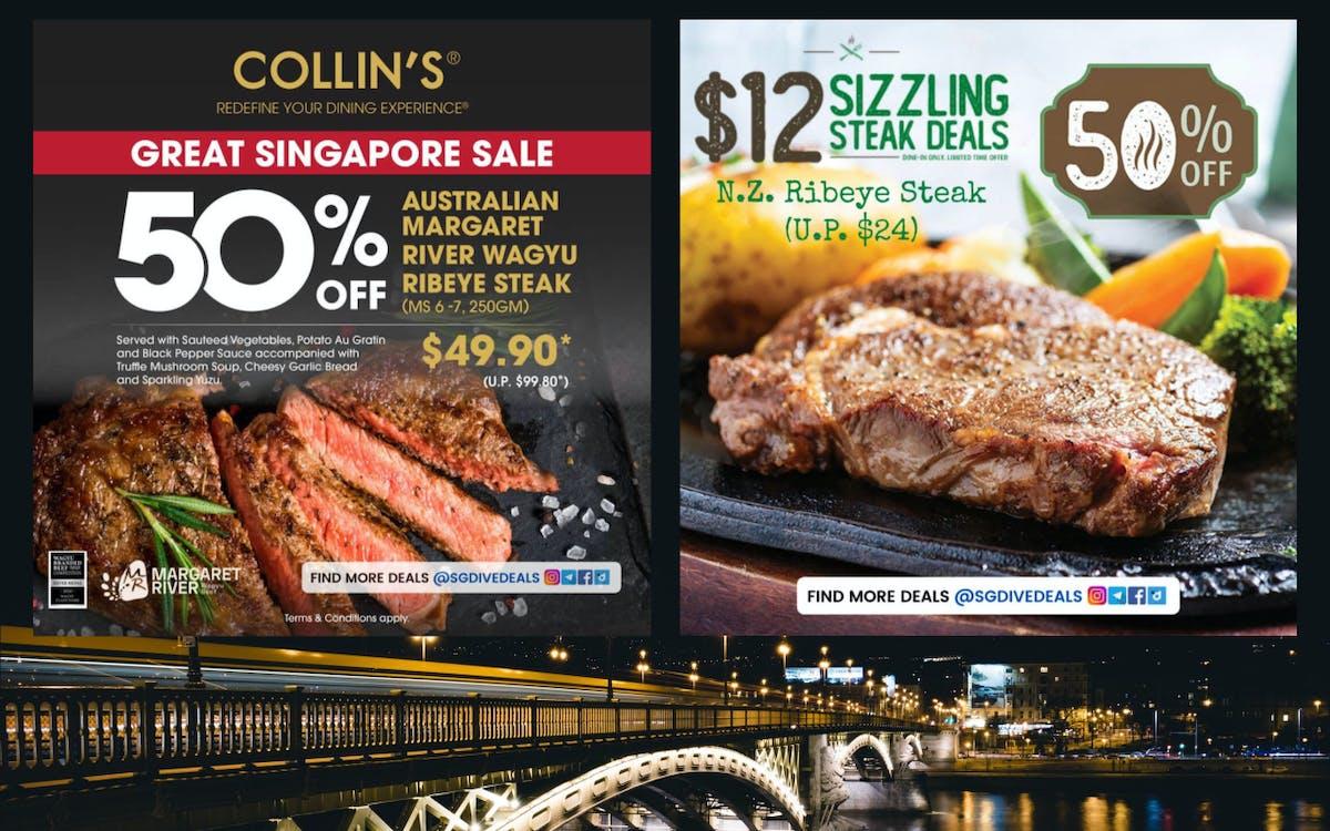 50% off steak!