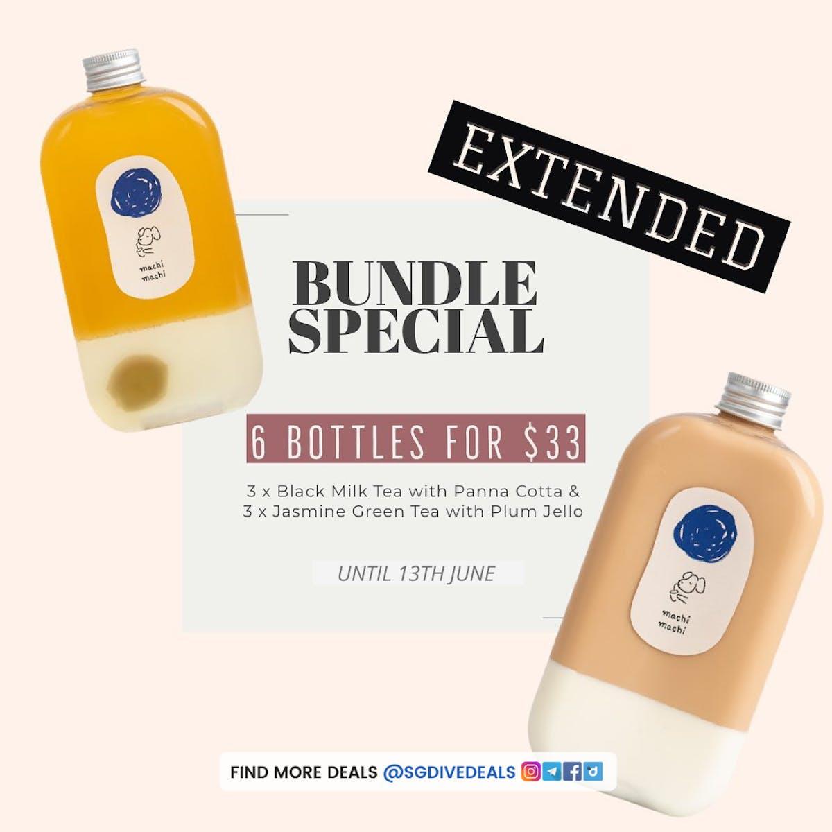 6 bottles for $33 bundle promotion