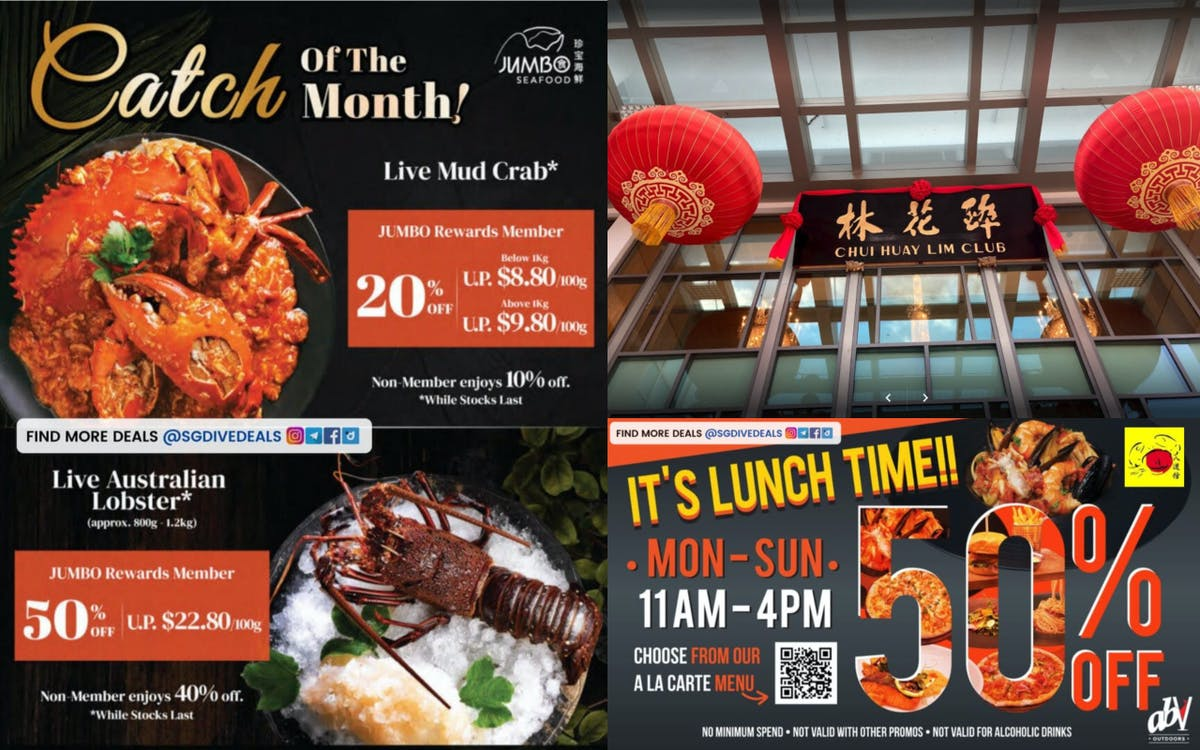Seafood deals from 20-50% off!