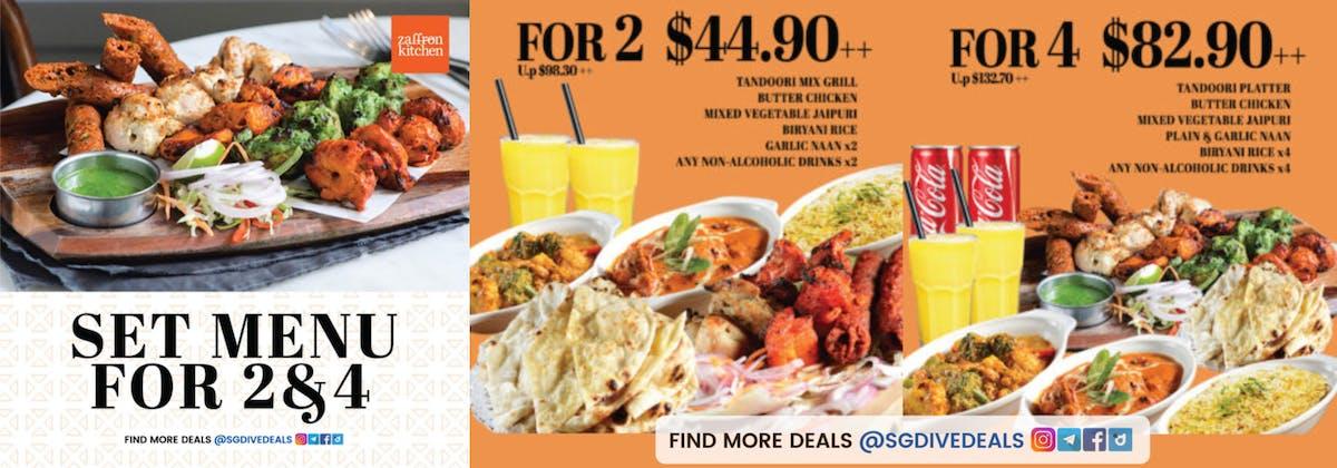 Zaffron Kitchen: Set Menu for 2 & 4