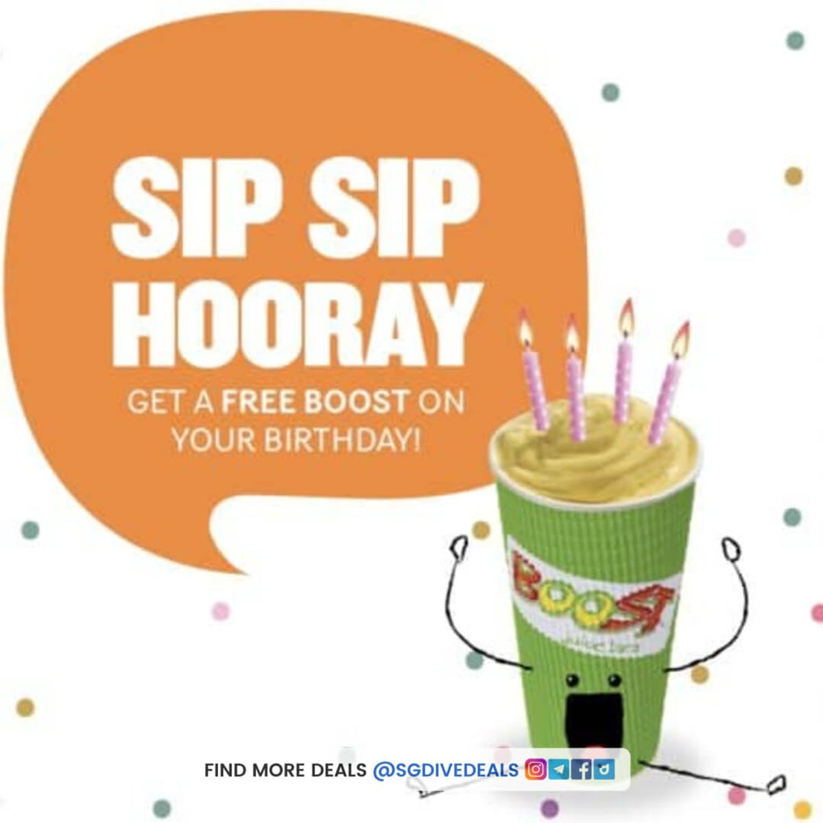Free boost drink on your birthday
