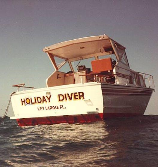 Original Holiday Diver boat, 1980s