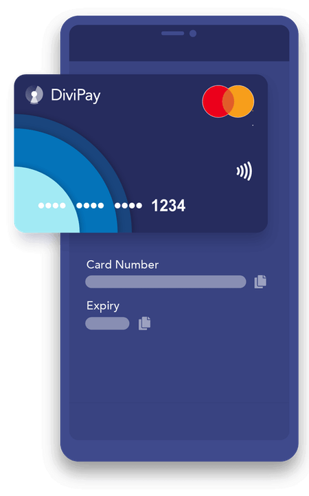 Card details showing on app