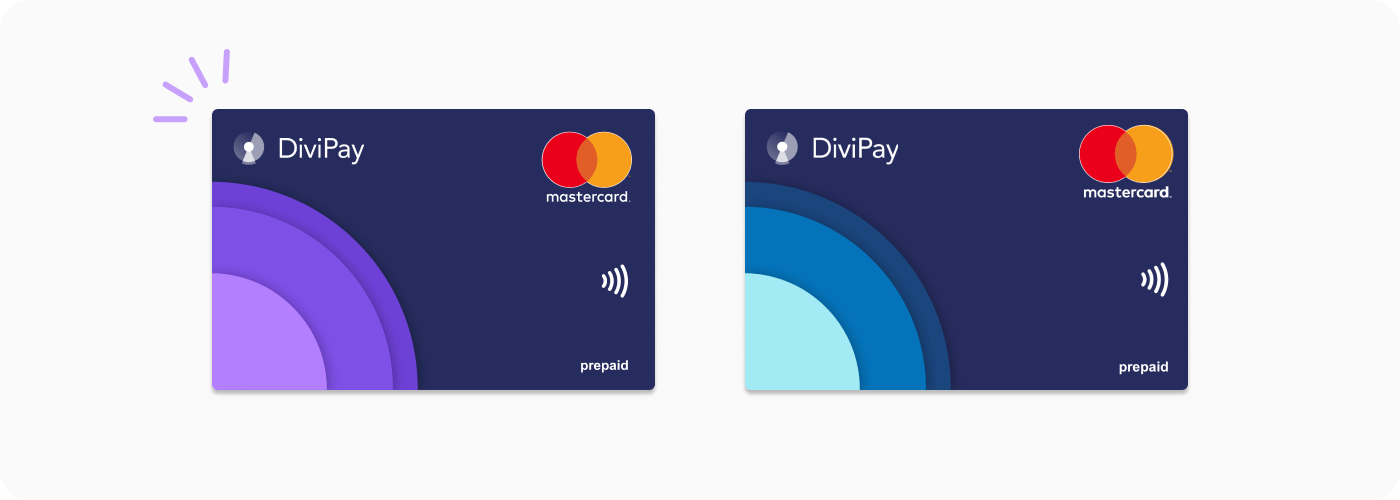DiviPay subscription card and budget card